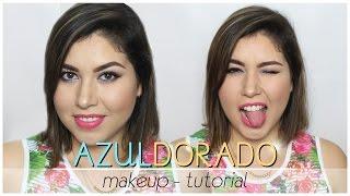 Hola!! aqui trayendoles un nuevo makeup tutorial! en esta ocasión un look bellisimo con sombra en azul dorado y café, especial para cualquier tonalidad de ojos y outfit!!!*SUSCRIBETE A MI CANAL: http://www.youtube.com/user/MaKillArte*FACEBOOK: MakillarteYT*INSTAGRAM: @makillarte*TWITTER: @MaKillArteYT*CORREO PARA CONTACTO/BUSSINES INQUIRIES:tanyamaquillarte@gmail.com*VENTA DE MAQUILLAJE ALTA COBERTURA VK AQUI:https://www.facebook.com/pages/MaKillArte-YT/201246919951985?sk=photos_albums______________________________________________________PRODUCTOS UTILZADOSSROSTROnivea after shave balmskinfood salmon concealerla girl pro conceal: green, porcelainloreal pro matte 24hr. #103mufe mat velvet +laura mercier transluced powderessence sun club #02milani tea rose blushcatrice prime & fine highlighterCEJAScity color bold brow gelmilani brow fix powderOJOSlure incredible hd eyeshadow basewet n wild greed, vanity sextetonyx jumbo pecil - pacificcoastal scents hot pot m06yves rocher waterproof pencil 02 bleubobbi brown black gelh&m lash curlerprosa 4 en 1 professional rimelLABIOScity color creamy lips - strawberry margarita