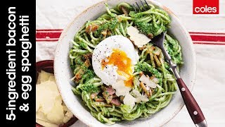 Love bacon and eggs for brekkie? Well you will love this twist for dinner – bacon and egg spaghetti (RECIPE BELOW). Better still...