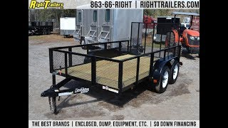 8. 6x12 Red Hot Trailers | Utility Trailer [Tandem Axle]