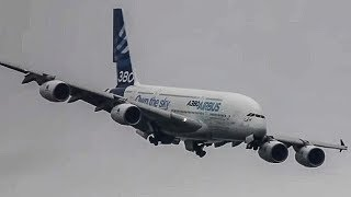 Unbelievable Airbus A380 vertical Take-off + Amazing Air Show ( HD ) Paris Air show 2013 - YouTube