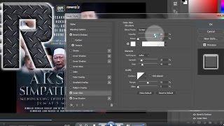 Berikut ini cara mudah membuat tulisan 3D mantap #tutorial photoshop