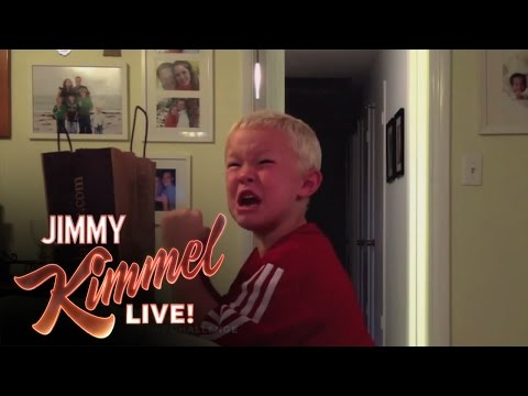 For the second year, Kimmel enlisted viewers to trick kids into thinking they're Halloween treats are gone. Watch more great clips from the unparalleled king of viral videos.