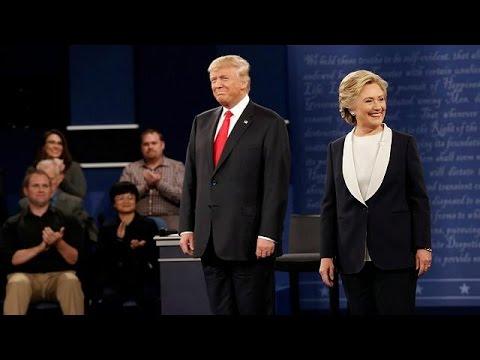Χωρίς καθαρό νικητή το δεύτερο ντιμπέιτ Κλίντον-Τραμπ