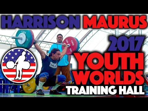 Harrison Maurus (77kg, 17y/o, USA) - 2017 Youth Worlds Training Hall