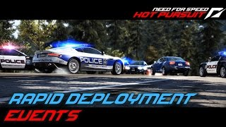 NFS: Hot Pursuit (2010) Playlist: https://www.youtube.com/playlist?list=PLi-a_-JYhWjsi7Zt9vGoZFpXuI0uUhBd4* Rapid Deployment- Porsche Patrol (01:11)• Get tough in the Porsche Panamera Interceptor or use the 911 GT3 RS' speed to shut down the racers heading west on Cascade Terrace.• Used ride: Porsche Panamera Turbo- Locking On (04:20)• The SCPD has seized a shipment of illegal EMP hardware but some units may still have evaded capture.• Used ride: Lamborghini Gallardo LP 560-4- Snake Pit (07:07)• Race in progress! There are 5 racers driving the Dodge Viper or Shelby GT 500 Super Snake. Seacrest County PD cutbacks mean you only have access to spike strips. Do what you can.• Used ride: Dodge Viper SRT10- Swedish Swoop (11:12)• The paint's still drying on Seacrest County's brand new Koenigsegg CCX. Race it the length of Eagle Crest as fast as you can without hitting anything.• Used ride:  Koenigsegg CCX- Under Pressure (15:48)• All SCPD airbourne units are available for your use to help stop this dangerous suspect.• Used ride: Chevrolet Corvette Z06- Guided Missile (19:24)• Fast Police response times require skill, speed and precision driving. Respond to the emergency and head west on South Bay Turnpike. Damage to the car will add time penalties, so be careful out there!• Used ride: Aston Martin DBS- Hang Tough (23:45)• Extreme caution is advised when dealing with this escaped convict. He will do anything to avoid being sent back to Seacrest Penitentiary. • Used ride: Chevrolet Corvette Z06- Coming In Hot (26:39)• Get your car to the north end of Oakmont Valley ASAP. Watch out for traffic and stay tight through the bends - you'll incur time penalties for anything you hit.• Used ride: Lamborghini Gallardo LP 560-4- Run to the Hills (29:53)• Shut down 7 aggressive drivers heading for the hills around Fox Lair Pass.• Used ride: Aston Martin DBS- Limited Emission (34:21)• All of your experience and training will be needed to stop the Porsche 918 Spyder.• Used ride: Mercedes-Benz SLS AMGUsed device: KeyboardRecording Software: Shadowplay (NVIDIA GTX 760)Video Editing Software: Adobe Premiere Pro CS6