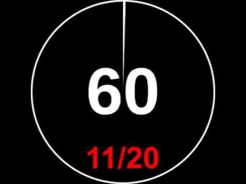 Interval Timer/reloj con intervalos 1 minute with 10 seconds rest/ 1m con 10seg de descanso