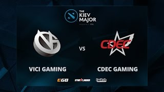Vici Gaming vs CDEC Gaming, Game 1, The Kiev Major CN Main Qualifiers Play-Off
