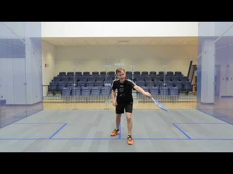 Squash tips: Backhand drop technique