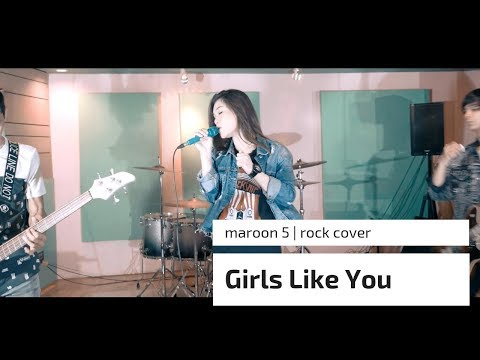 MAROON 5 - Girls like You - ROCK - Cover by Jeje GuitarAddict ft Shella Ikhfa