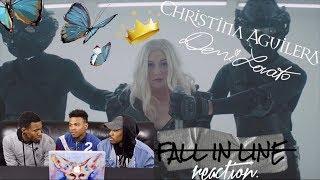 Video Christina Aguilera - Fall In Line feat. Demi Lovato REACTION MP3, 3GP, MP4, WEBM, AVI, FLV Mei 2018