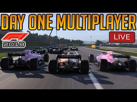 F1 2018: Online Multiplayer LIVE - DAY ONE MAYHEM