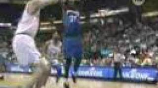 Kevin Garnett sick dunk on Shawn Bradley