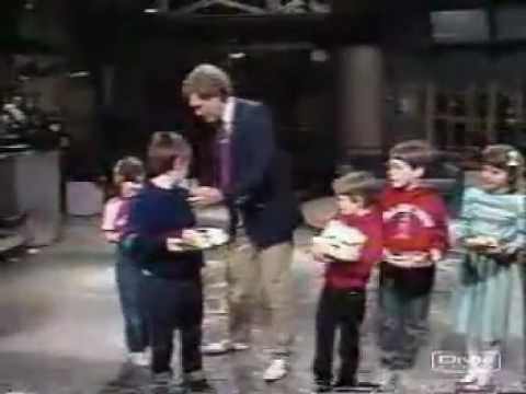 1986 - Dave with Kids and sandwiches