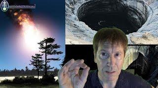 """http://www.davidparcerisa.orgCráteres de entre 60 y 100 metros de profundidad aparecen en Siberia, los científicos no saben explicar del todo su origen, aunque se cree que se debe al derretimiento del """"permafrost"""" (hielo bajo tierra), ninguna teoría parece convincente para explicar el enigma. Más aún, algunos expertos asocian este fenómeno con extrañas estampidas en los cielos y luces inexplicables..."""
