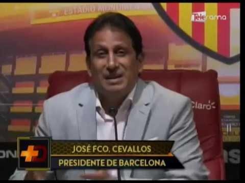 Cevallos buscará reelección a la presidencia de Barcelona