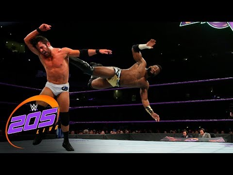 Alexander vs. Strong - Cruiserweight Title Tournament Semifinal: WWE 205 Live, March 13, 2018