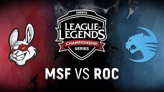 Video MSF vs. ROC - Week 9 Day 1 | EU LCS Spring Split |  Misfits Gaming vs. Team Roccat (2018) MP3, 3GP, MP4, WEBM, AVI, FLV Juni 2018