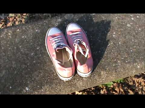 Showing inside of my peach Converse