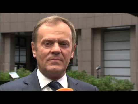 Δήλωση του Ντόναλντ Τουσκ κατά την άφιξή του στη Σύνοδο Κορυφής για το μεταναστευτικό