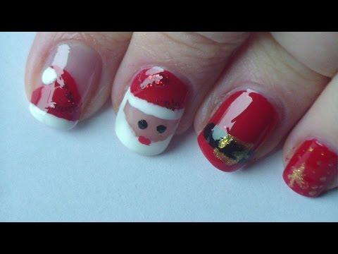 Nageldesign - Weihnachtsmann - Santa Claus - Nailart