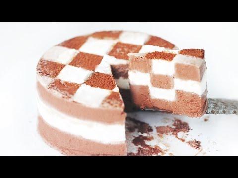 Checkerboard Ice Cream Cake - Eugenie Kitchen