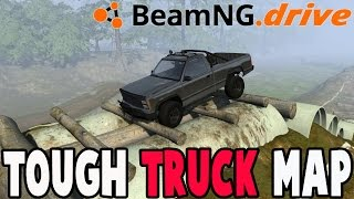 BeamNG Drive Mods - TOUGH TRUCK MAP - Trucking Playground!