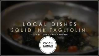 Follow us on facebook: https://www.facebook.com/civiccouch/Have you tried squid ink pasta? Yes, the pasta is black! Clams, muscles, shrimp and calamari give it a nice seafood/meat flavor. We found this dish at Bettolino Kitchen restaurant in Redondo Beach.