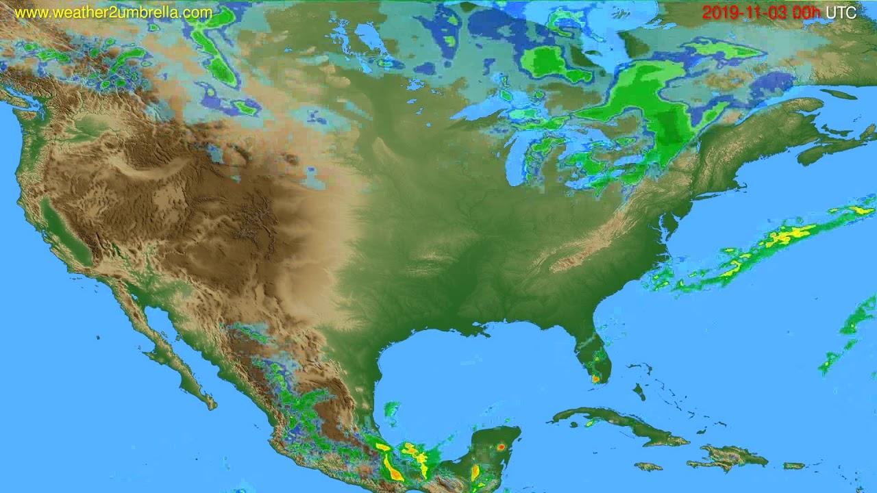 Radar forecast USA & Canada // modelrun: 12h UTC 2019-11-02