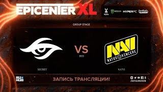 Secret vs Na'Vi, EPICENTER XL, game 1 [v1lat, godhunt]