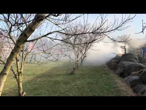 Wideo1: Pożar balotów słomy we Włoszakowicach