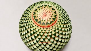 Watermelon Beautiful Cactus Flower - Advanced Lesson 15 By Mutita Thai Art Of Fruit And Veg Carving - YouTube