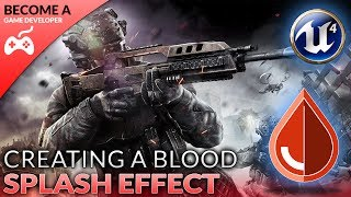 In today's video we show you how you can create a blood splash/splatter effect for when the player takes damage in our shooter game.We go over importing & setting up the splatter animation along with creating additional blueprints to add it to our function for when the player takes damage from enemies.Unreal Engine 4 Beginner Tutorial Series:https://www.youtube.com/playlist?list=PLL0cLF8gjBpqDdMoeid6Vl5roMl6xJQGCBlueprints Creations Serieshttps://www.youtube.com/playlist?list=PLL0cLF8gjBpoojQ7YqsSsxycBe5S3ikkV► Next VideoIn the next video we'll continue to bring our shooter game to life.♥ Subscribe for new episodes weekly! http://bit.ly/1RWCVIN♥ Don't forget you can help support the channel on Patreon! https://www.patreon.com/VirtusEduVirtus Learning Hub // Media● Facebook Page - https://www.facebook.com/VirtusEducation●Twitter Page - http://www.twitter.com/virtusedu● Website - http://www.virtushub.co.uk