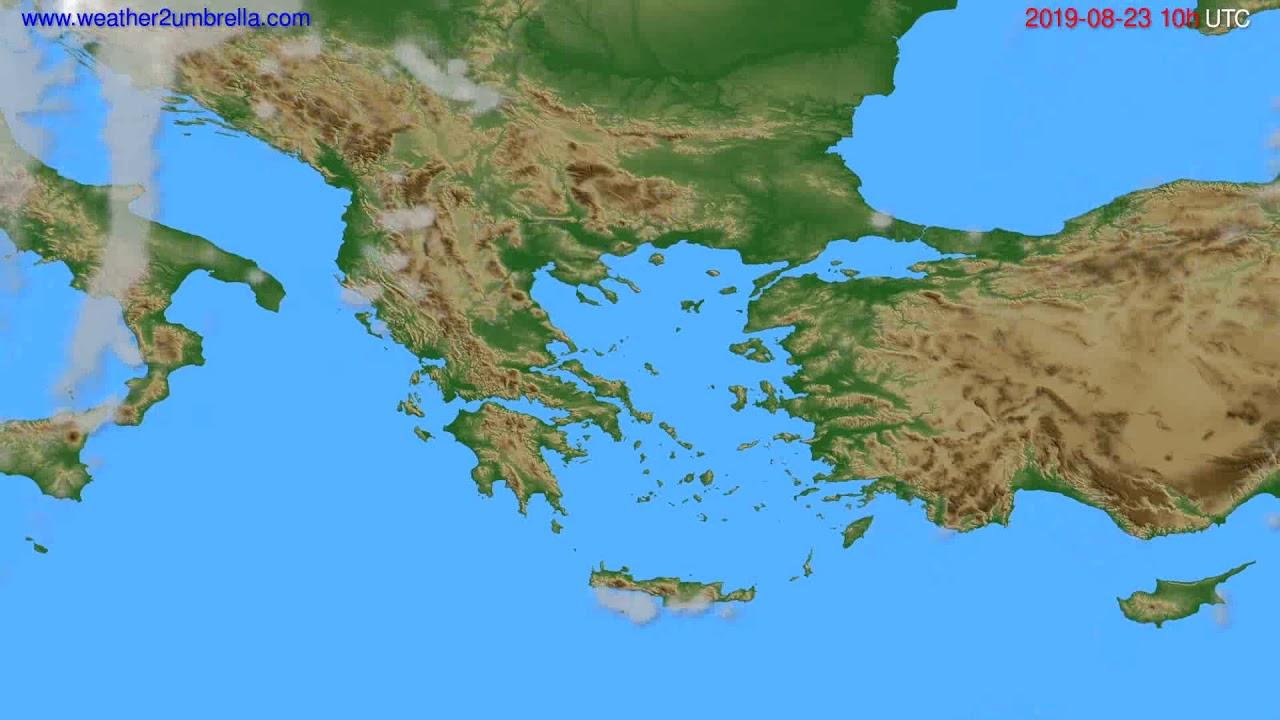Cloud forecast Greece // modelrun: 00h UTC 2019-08-21