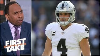 Stephen A. fires back at Derek Carr: 'Max did not call him a quitter' | First Take