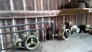 Air system I built using a 500 gallon propane tank, and an old 1960's air compressor.