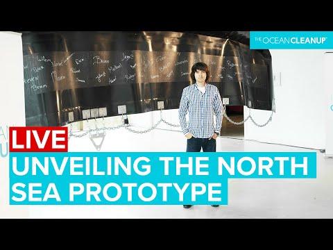 Boyan Slat unveils The Ocean Cleanup Prototype