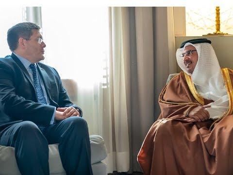 نائب جلالة الملك ولي العهد يلتقي سعادة السيد رودي دراموند سفير المملكة المتحدة بمناسبة تعيينه سفيرا لبلاده لدى مملكة البحرين