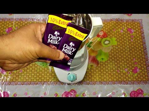 Simple & easy way to make chocolate shake at home with Cadbury dairy milk