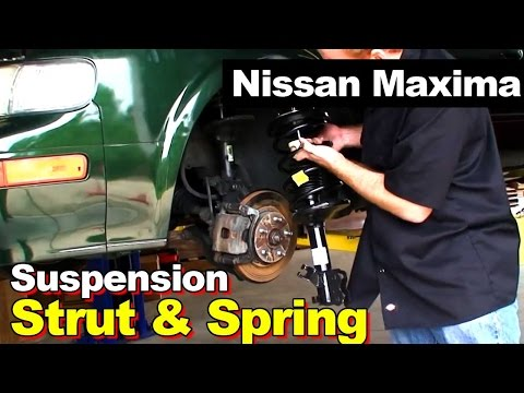 Front Complete Strut With Coil Springs Replacement, Nissan Maxima