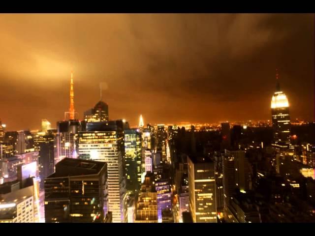 Diễn biến siêu bão Sandy tại New York trong 1 phút