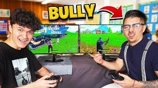 16 Year Old Little Brother DESTROYS School Bully in Fortnite 1v1