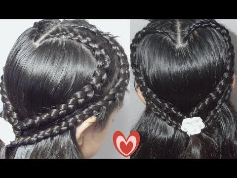 Trenza Doble Corazon Para San Valentin  | Double Hearth Braid| CositasyManualidades