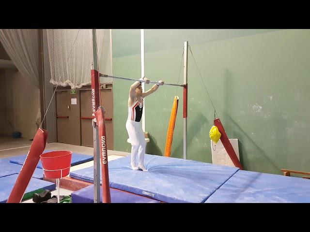 Barra – Infantil, Cadete, añadir volteo antes de salida