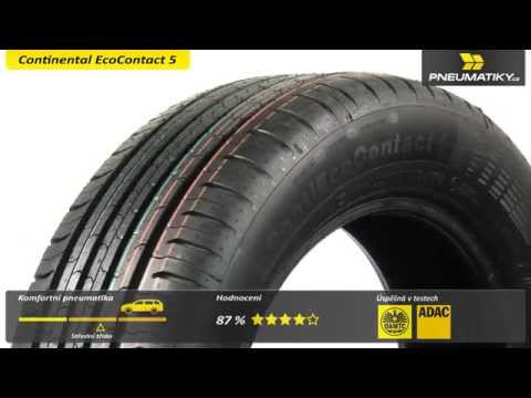 Youtube Continental EcoContact 5 195/65 R15 91 V Letní