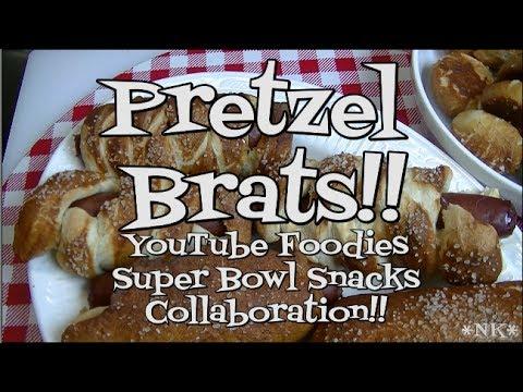 , title : 'Pretzel Brats!!  Noreen's Kitchen YouTube Foodies Super Bowl Snacks!'
