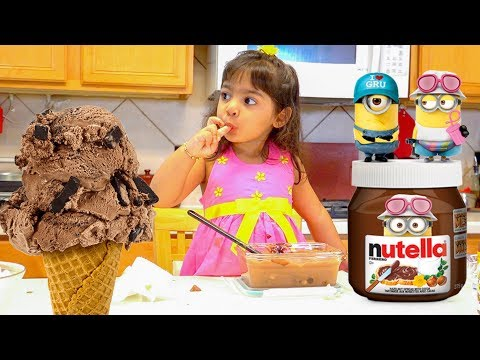 Kids Recipes Nutella Ice Cream Fun For Kids - ZMTW