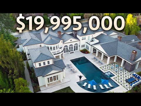 Touring a $19,995,000 Hidden Hills MEGA MANSION with Garage Full of Supercars!