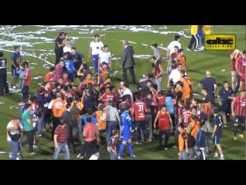 Cerro Porteño, campeón del torneo Apertura 2015 - Festejo de la hinchada azulgrana - La Plaza y Comando - Cerro Porteño