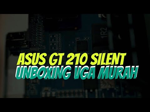 Unboxing VGA Asus Geforce GT 210 1GB Silent Test Hackintosh dan Windows 10 (видео)