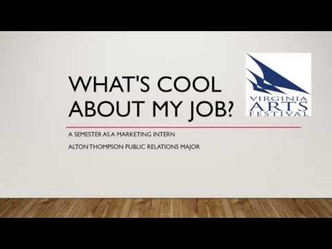 What's cool about my job? ODU Spring Communications Internship